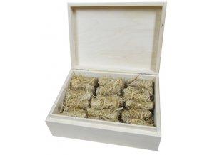 Podpalovače - dřevěná krabička 36ks
