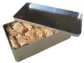 Podpalovače - plechová krabička