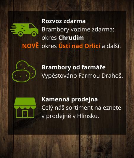 rozvoz brambor, info
