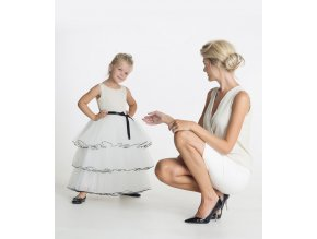 produktová šaty Iveta krémové