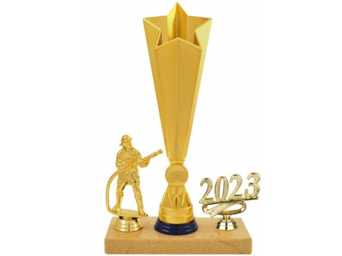 Trofej hasič zlatomodrá