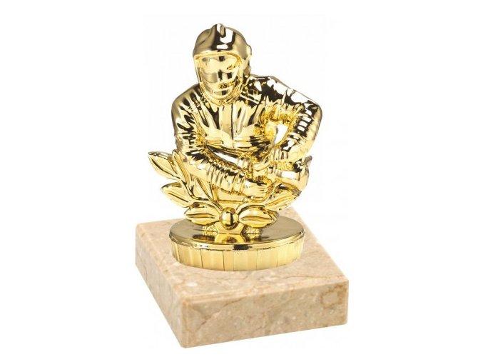 Figurka zlatá hasič