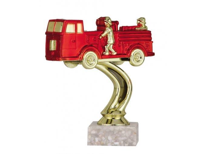 Figurka barevná hasičské auto