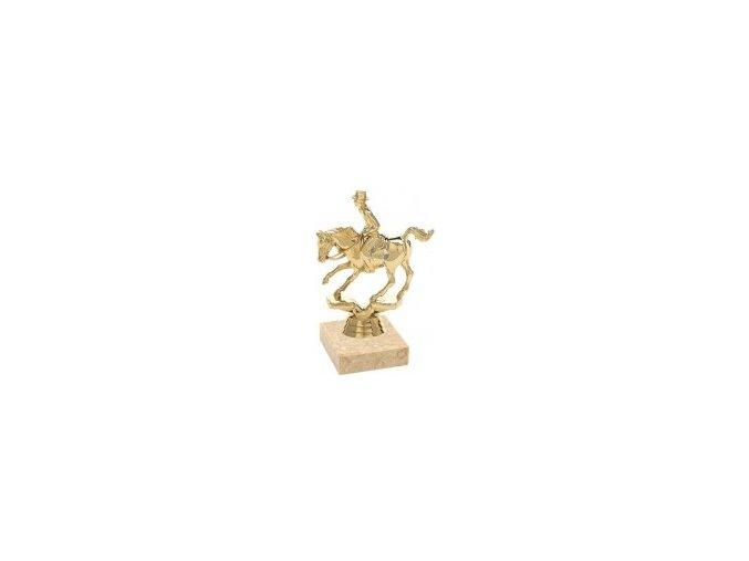Figurka zlatá kůň rodeo