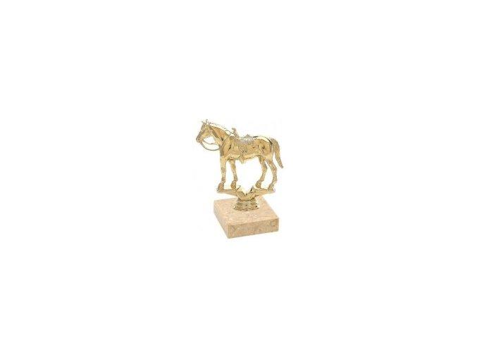 Figurka zlatá kůň western
