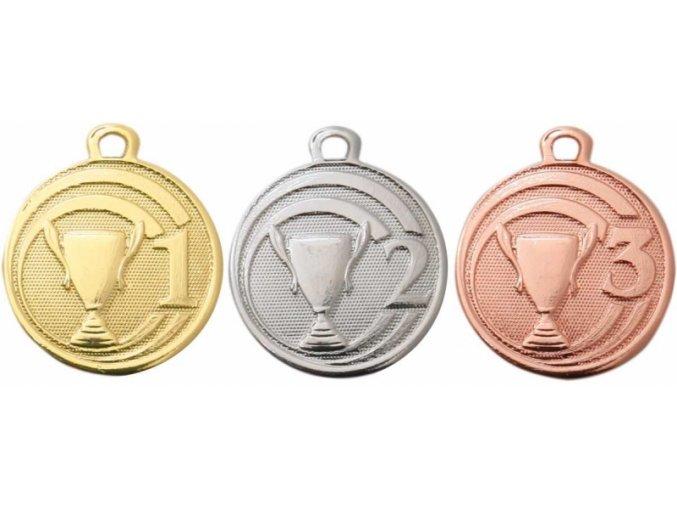 Medaile pohár s číslicí ME088