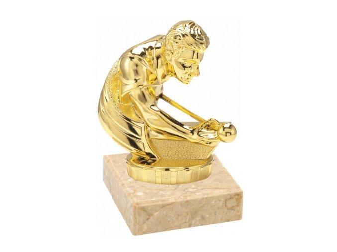 Figurka zlatá kulečník