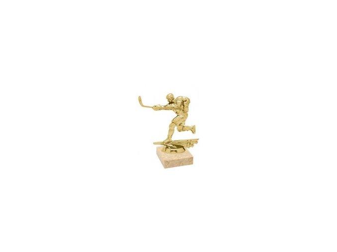 Figurka zlatá lední hokej hráč