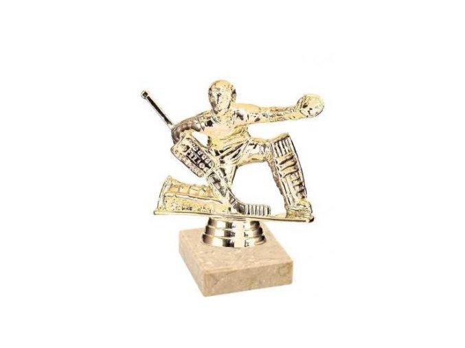 Figurka zlatá lední hokej brankář