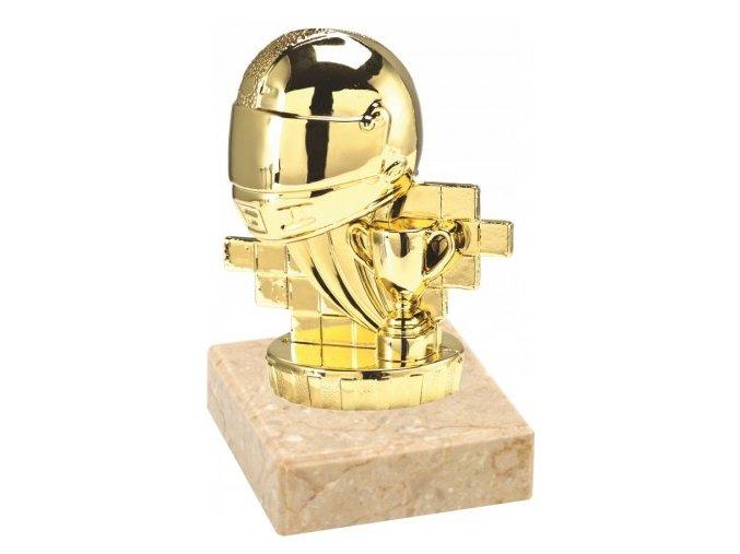 Figurka zlatá motorsport helma