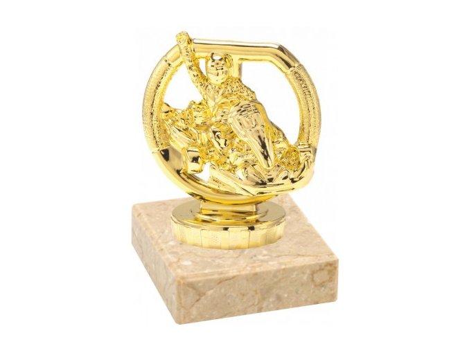 Figurka zlatá motokára