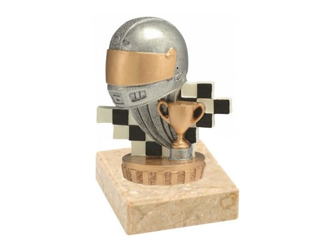 Figurka barevná motorsport helma