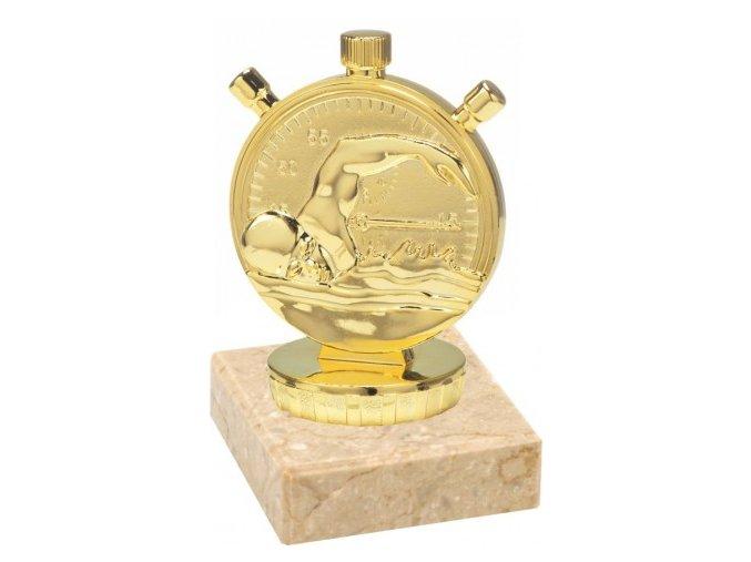 Figurka zlatá plavání