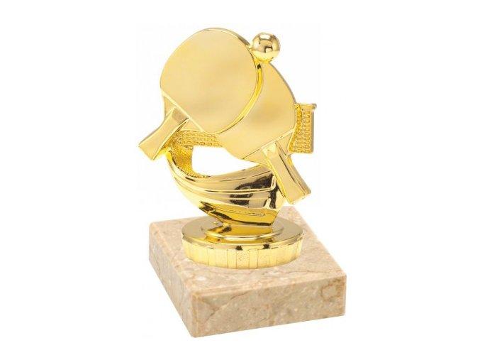 Figurka zlatá stolní tenis
