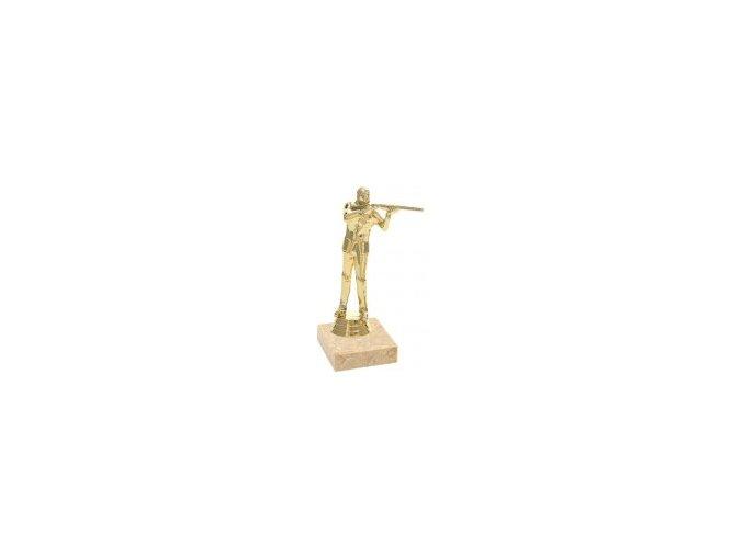 Figurka zlatá střelba trap