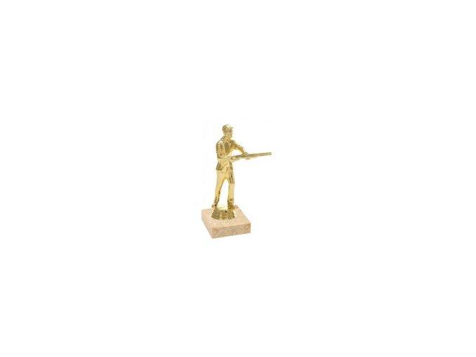 Figurka zlatá střelba skeet