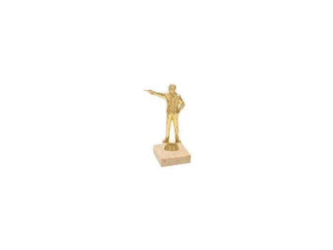 Figurka zlatá střelba pistole