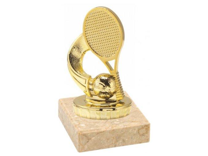 Figurka zlatá tenis