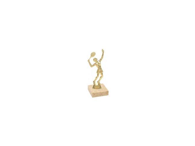 Figurka zlatá tenis žena