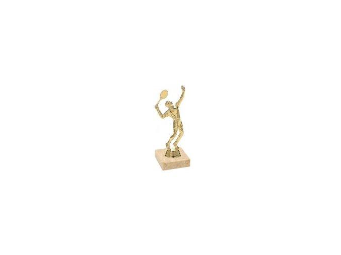 Figurka zlatá tenis muž