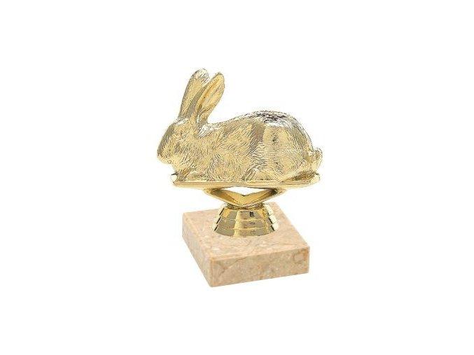 Figurka zlatá králík