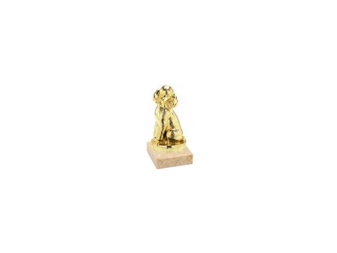Figurka zlatá pes