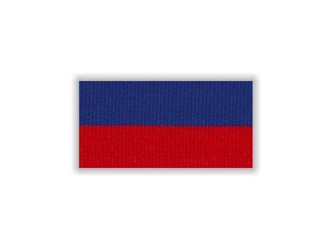STUHA S KARABINOU V8CM - MODRÁ ČERVENÁ ÚZKÁ