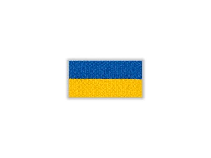 Stuha s karabinou V2MZ - modrá žlutá