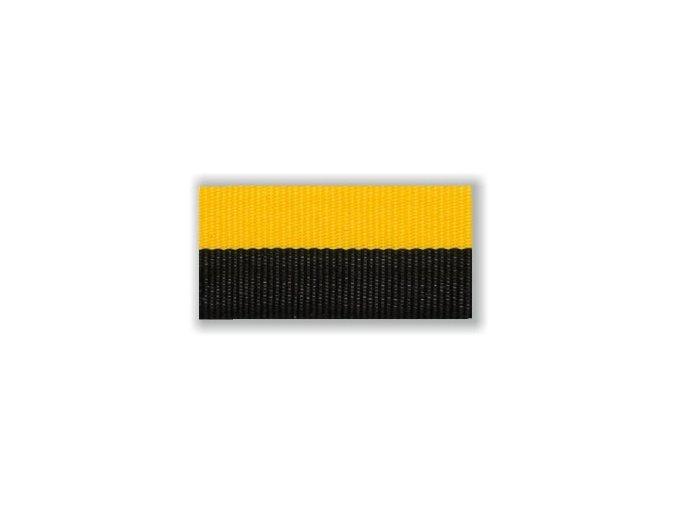 Stuha s karabinou V2ZUC - žlutá černá