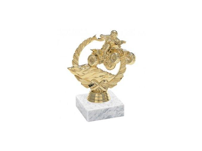 Figurka zlatá čtyřkolka
