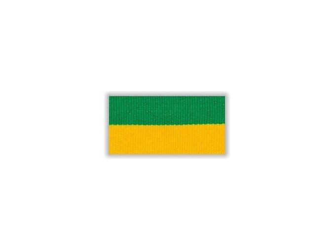 Stuha s karabinou V2ZZ - zelená žlutá
