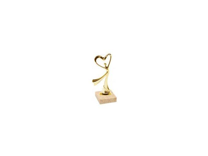 Figurka zlatá moderní tanec