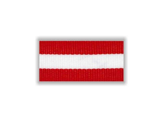Stuha s karabinou V2CBC - červená bílá červená