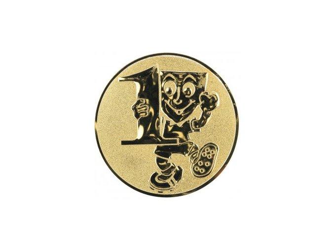 Emblém číslice 1 s panáčkem