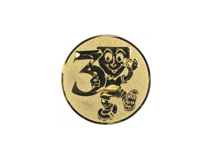 Emblém číslice 3 s panáčkem