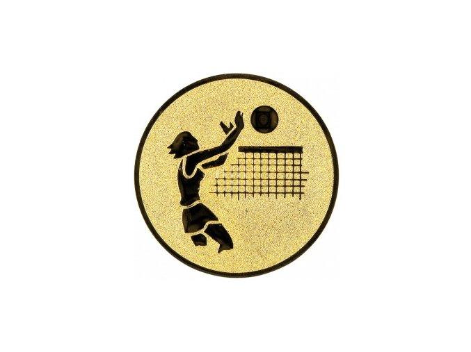 Emblém volejbal žena