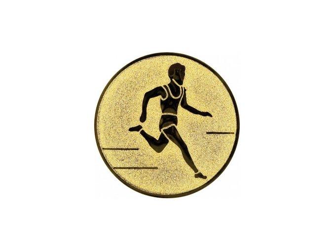 Emblém běh muž