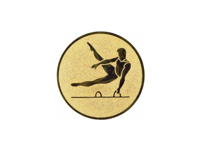Emblém gymnastika sportovní muž