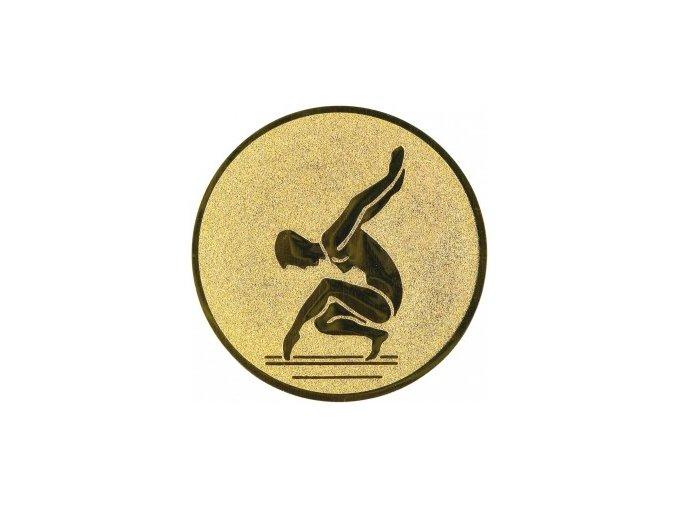 Emblém gymnastika sportovní žena