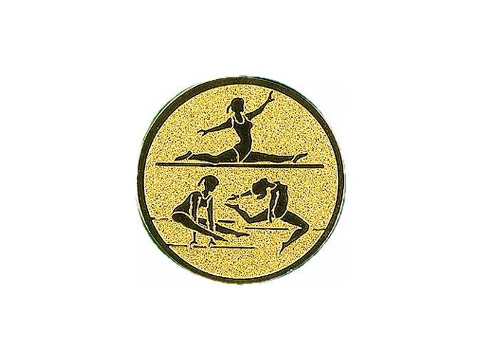 Emblém gymnastika sportovní ženy