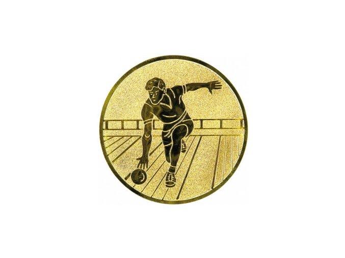 Emblém bowling,kuželky muž