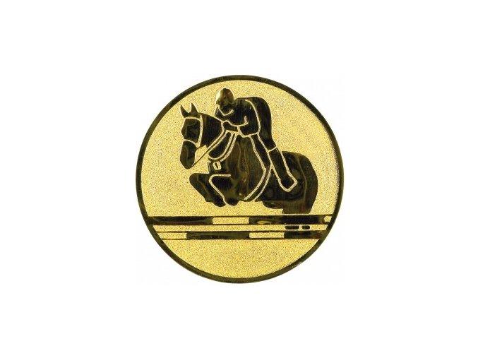 Emblém skok na koni