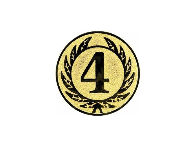 Emblém číslice 4