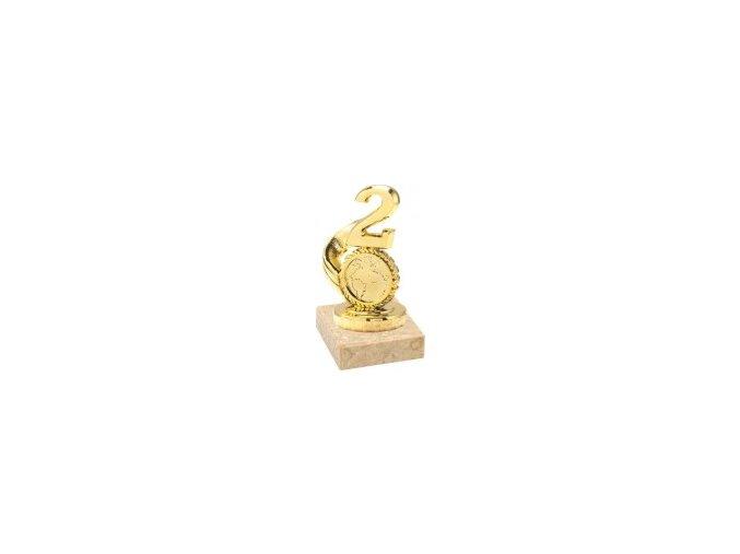 Figurka zlatá číslice 2