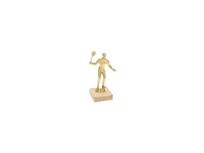 Figurka zlatá badminton muž