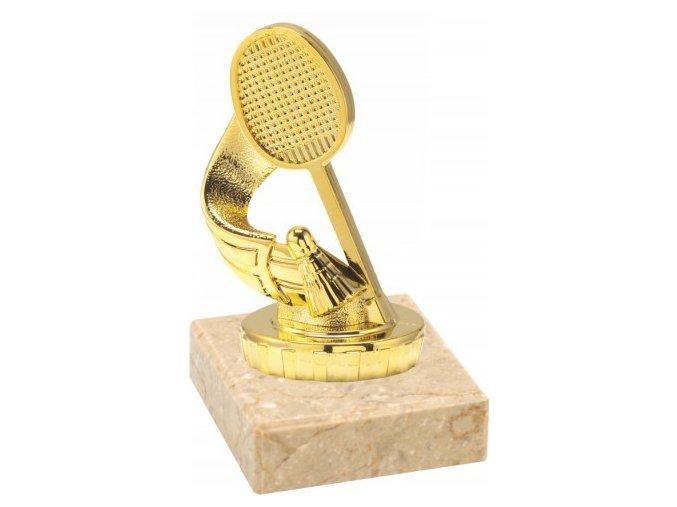 Figurka zlatá badminton