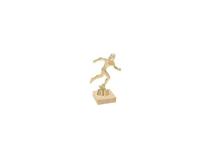 Figurka zlatá běh žena