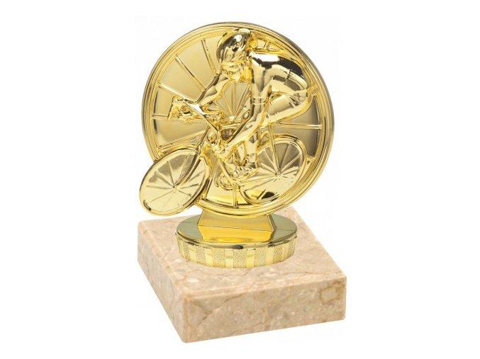 Figurka zlatá cyklistika