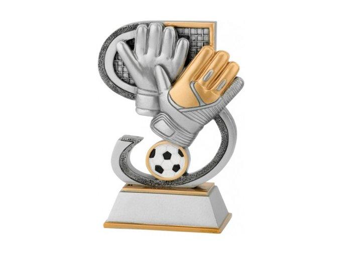 Soška fotbalové rukavice