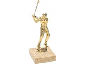 Figurka zlatá golf muž